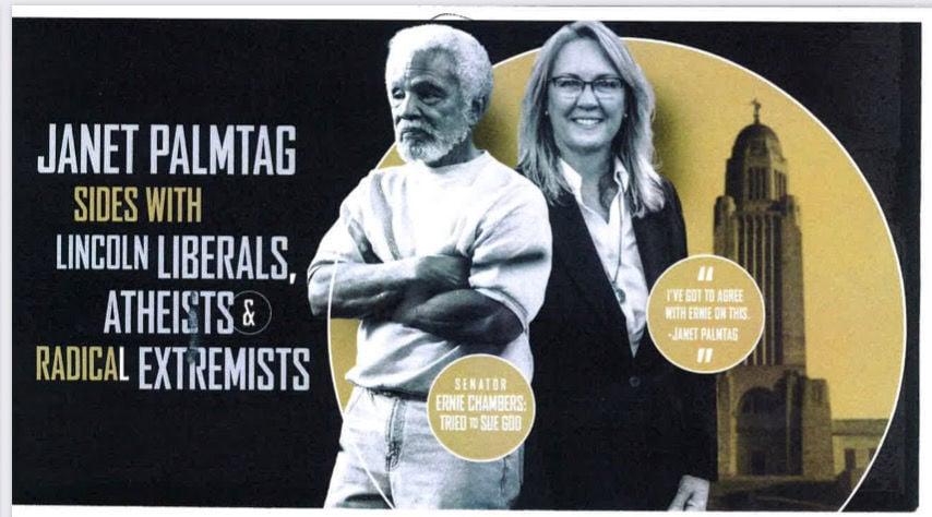 Julie Slama campaign flyer