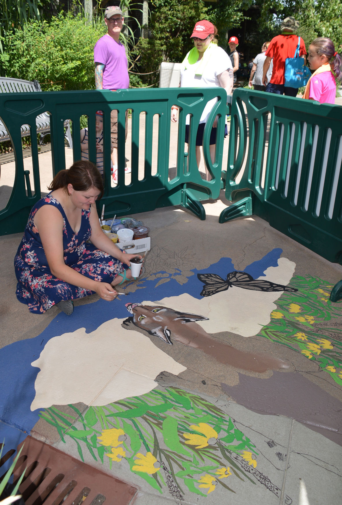 Abbey Ahmed paints at the zoo