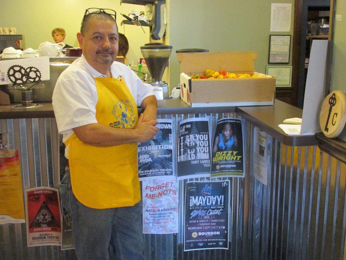 Pepe Fierro and the Pepe's Bistro order counter and kitchen