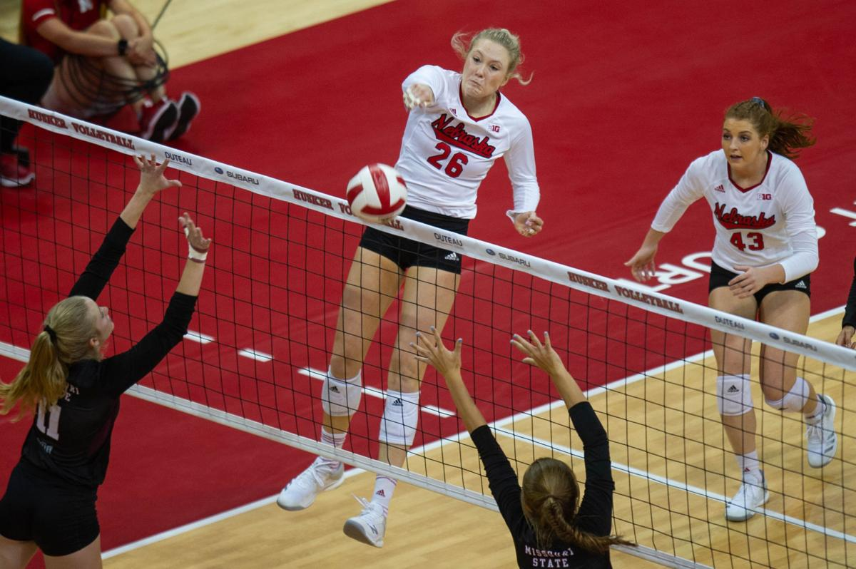 NU Volleyball vs. Missouri State, 9/15/18