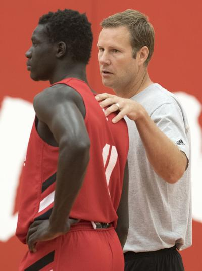 Nebraska men's hoops practice, 7.23