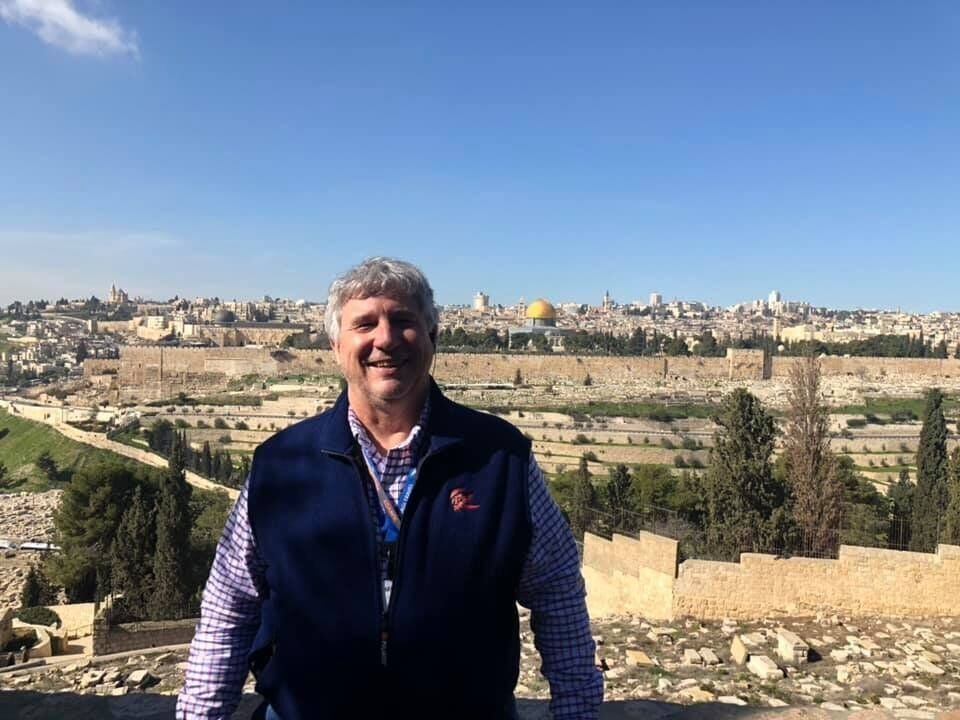 Mike Leick in the Holy Land in 2019