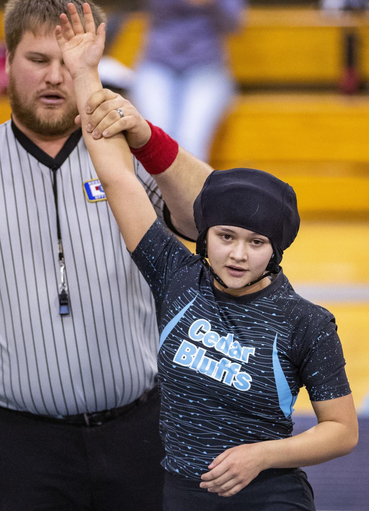 Cedar Bluffs girls wrestling, 2.02