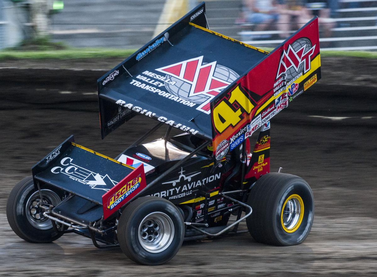 NASCAR driver outruns rain, foes for World of Outlaws win at Eagle ...