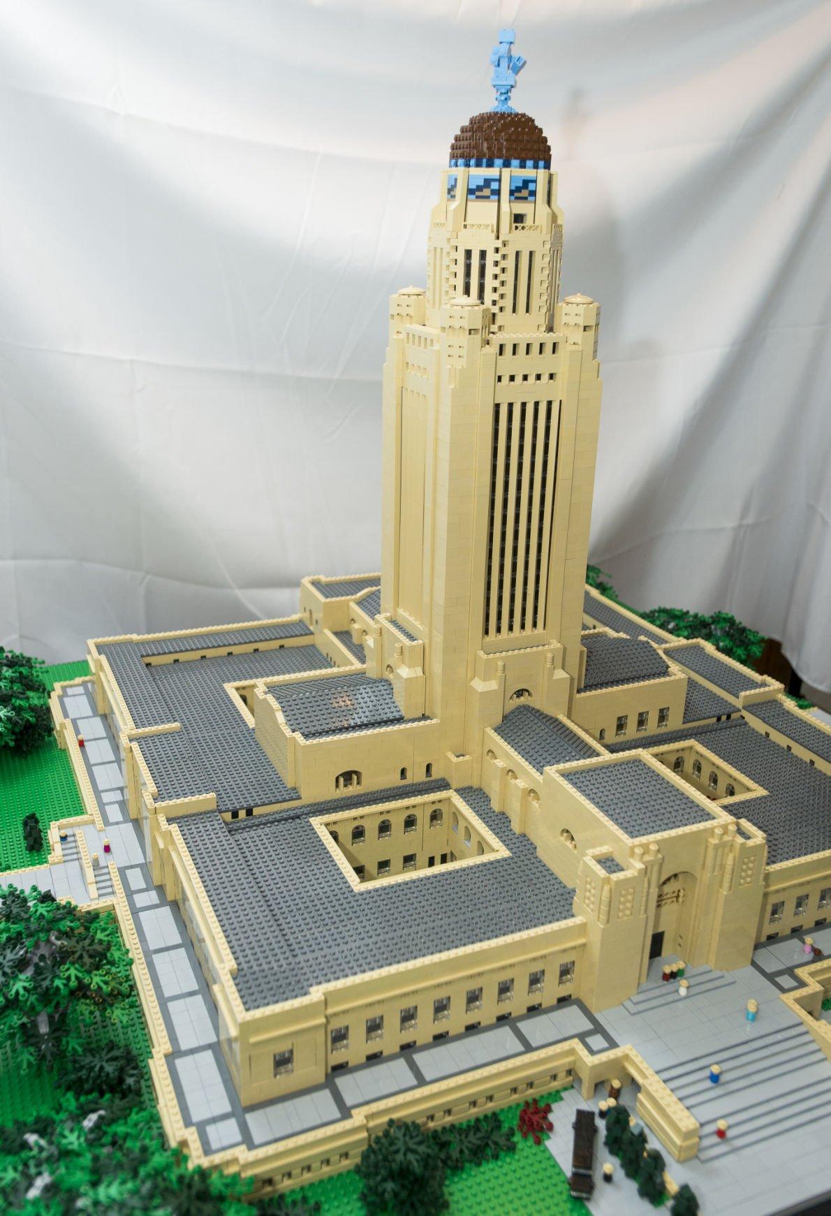 Mans Lego Nebraska Capitol A 25755 Brick Creation Local