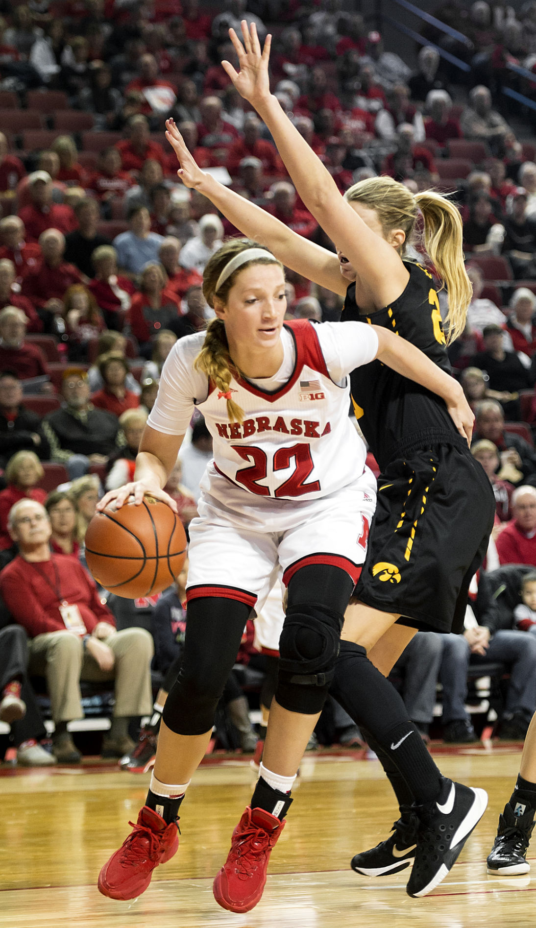 Nebraska v. Iowa, women's basketball, 12/31/2015