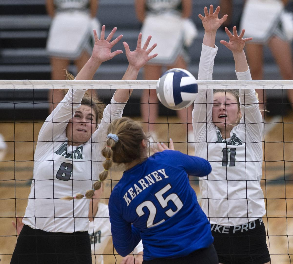 Prep volleyball, Southwest vs. Kearney, 9.5