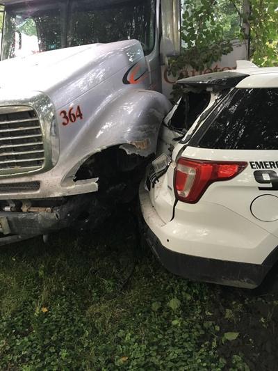 Vehicle rammed