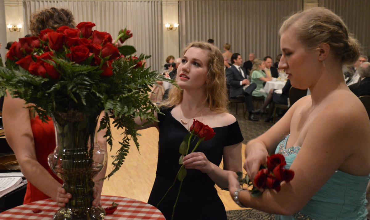 Mary Dowd and Abby Kurth select roses