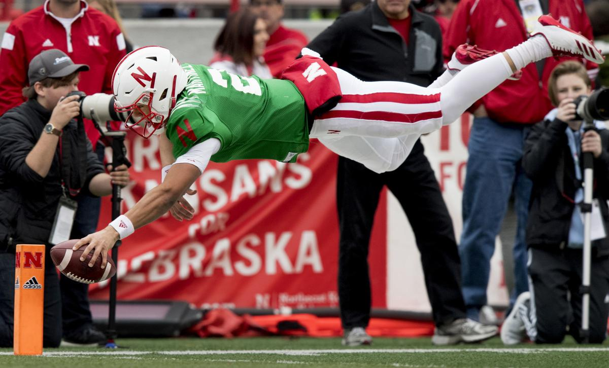 sports shoes aab5b 20503 Offensive fireworks provide spring-game glimpse of what Frost, Huskers hope  is to come