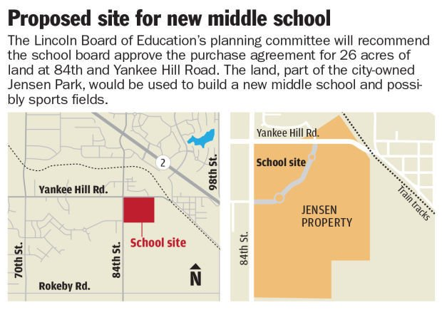 Map: New middle school site