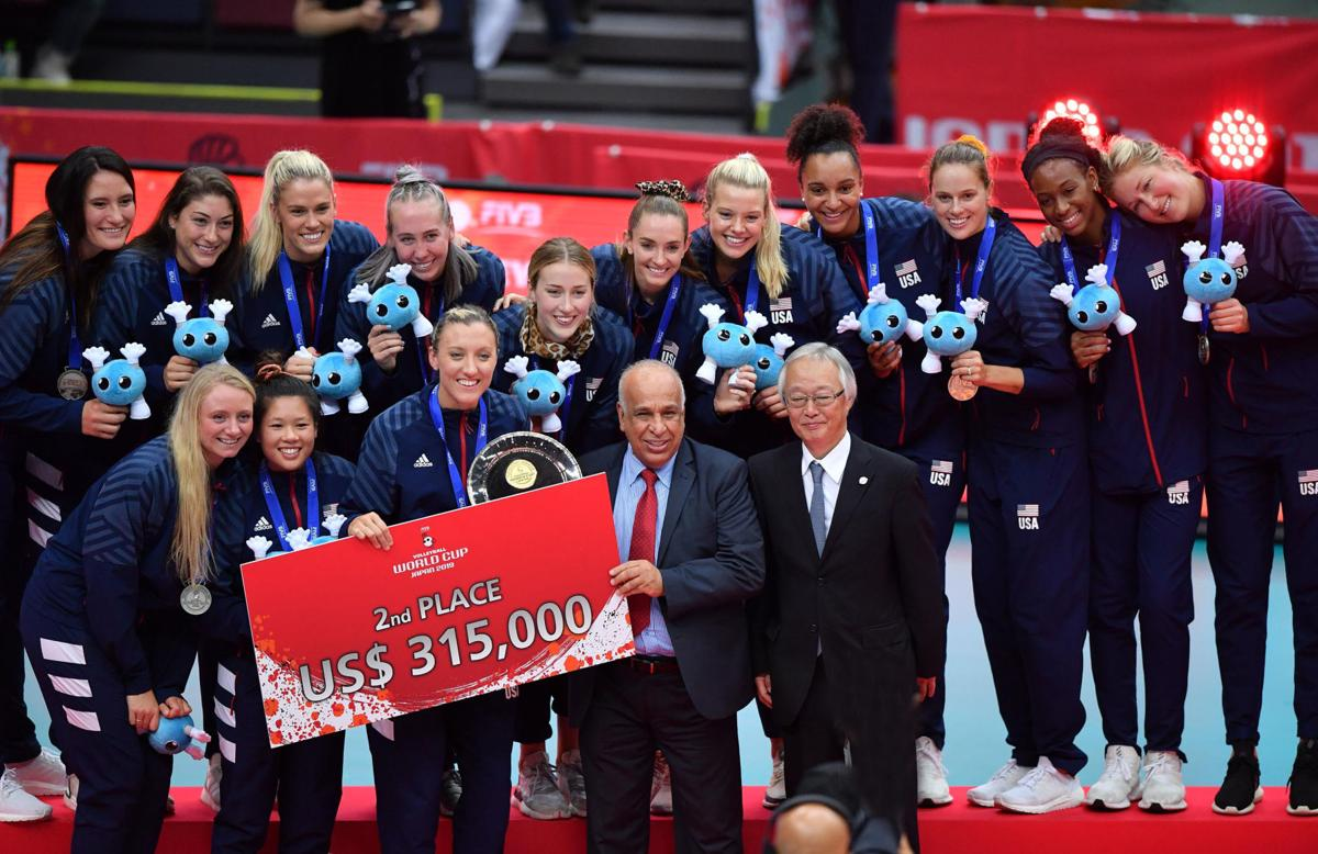National team wins silver medal at FIVB World Cup.