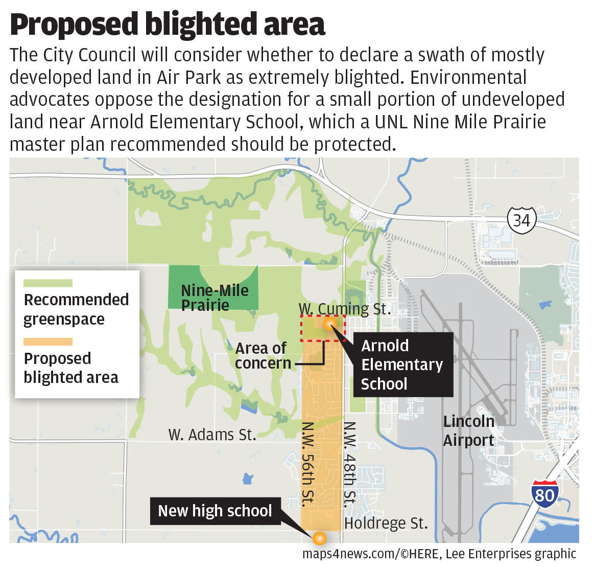 Proposed blighted area in Air Park