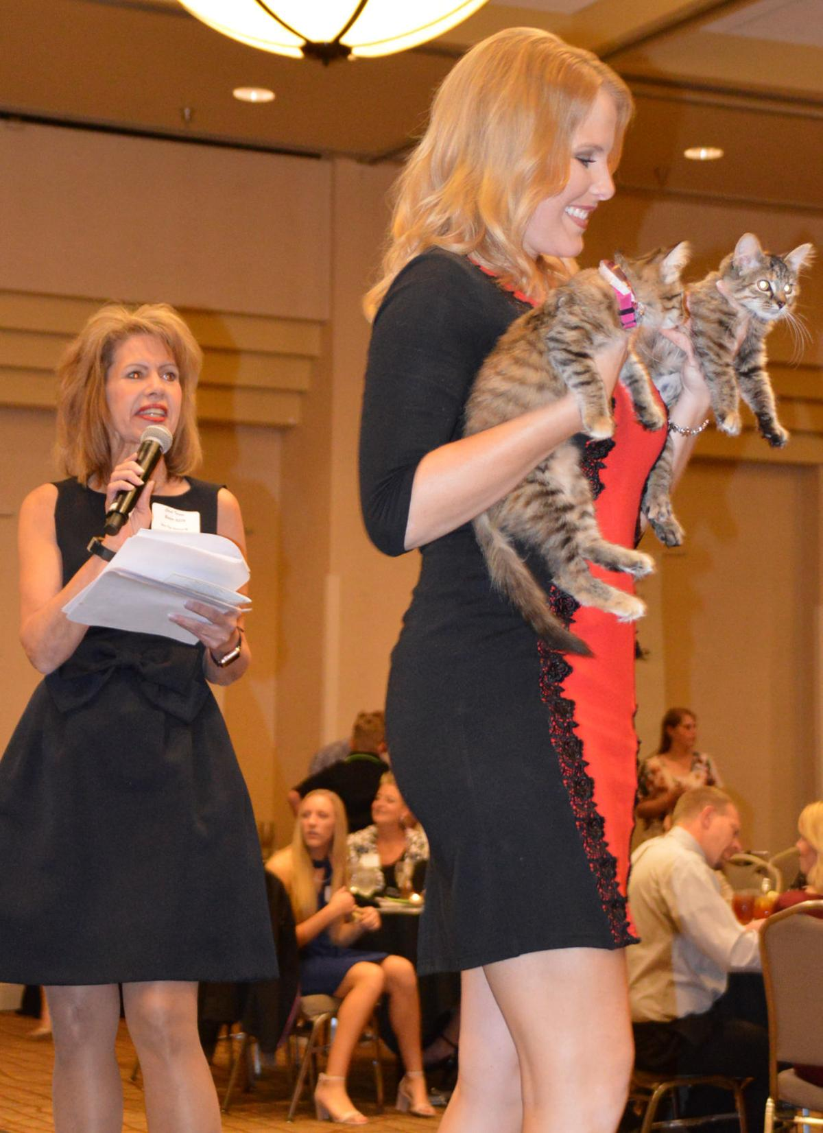 Pet Parade-Carol Turner, Megan Conway, Ginger & Gabby cats