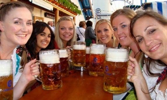 Bavarian beer in steins