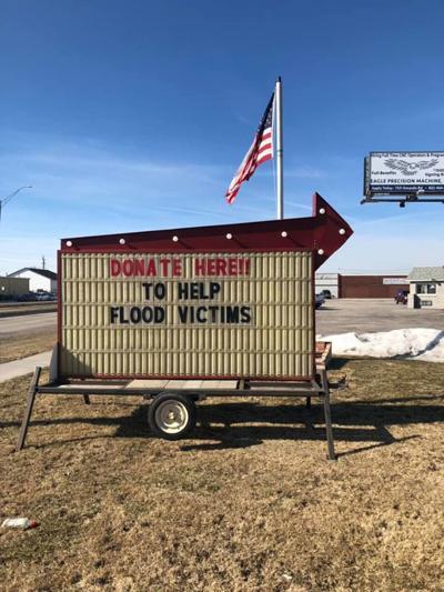 Donation sign