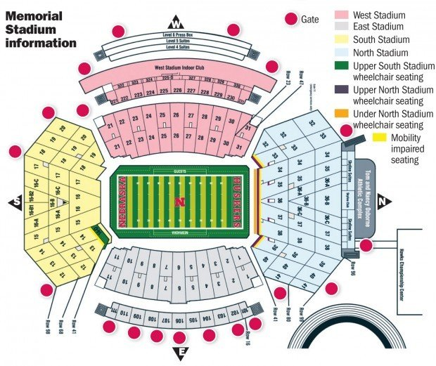 Memorial Stadium Layout