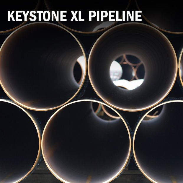 Keystone XL pipeline logo