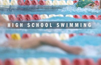 High school swimming logo 2014