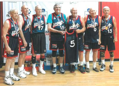 85-plus seniors basketball team