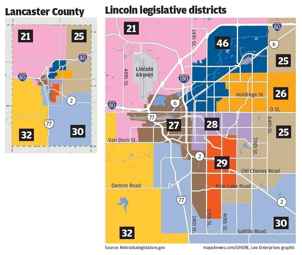 Legislative districts, Lancaster County, Lincoln