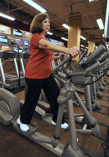 In This March 22 2010 Photo Janet Katzin 61 Of Jericho N Y Exercises On An Elliptical Machine At X Sport Gym The Roosevelt Field Mall Garden