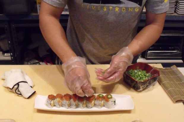 Brian Choi prepares a Kiss of Fire Roll