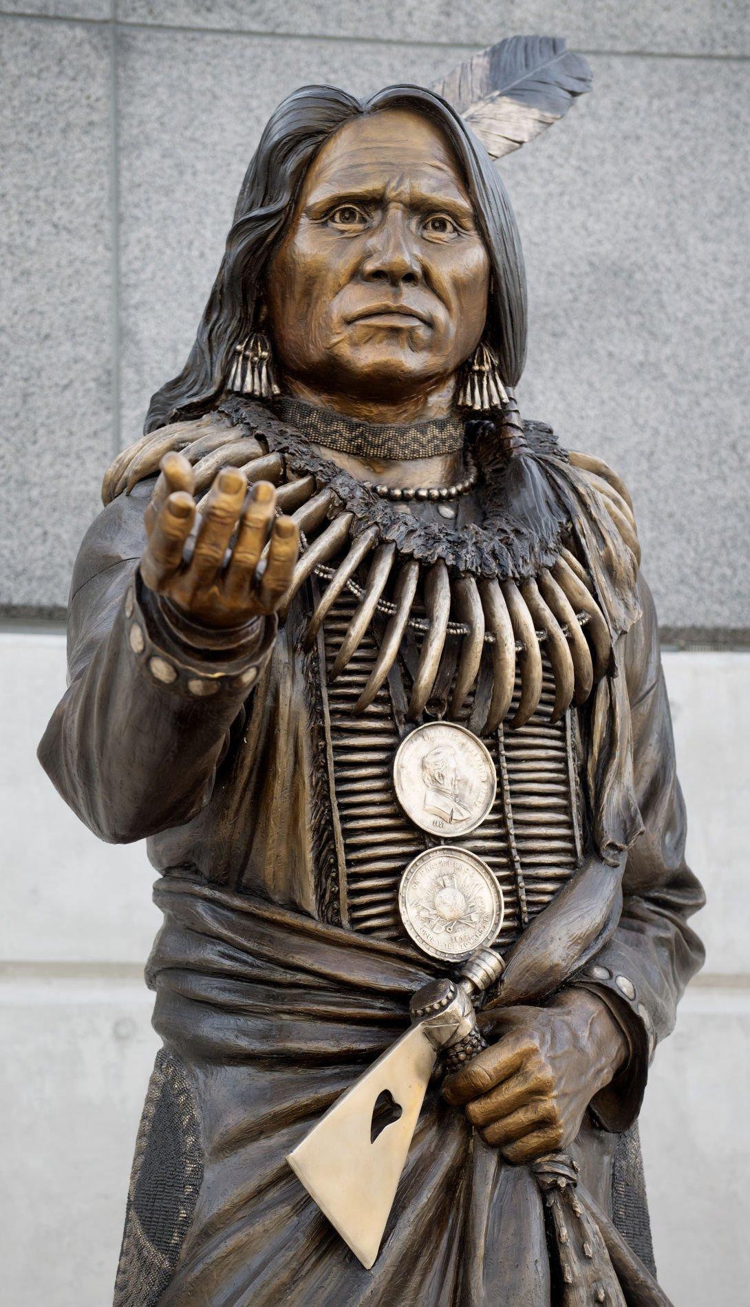 Standing Bear sculpture