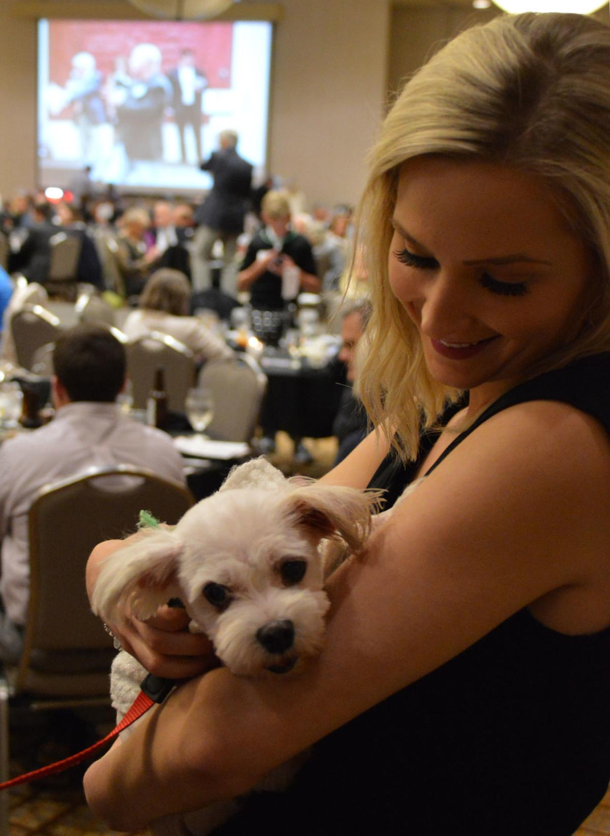 Nicole Cousins with adoptable dog Grace