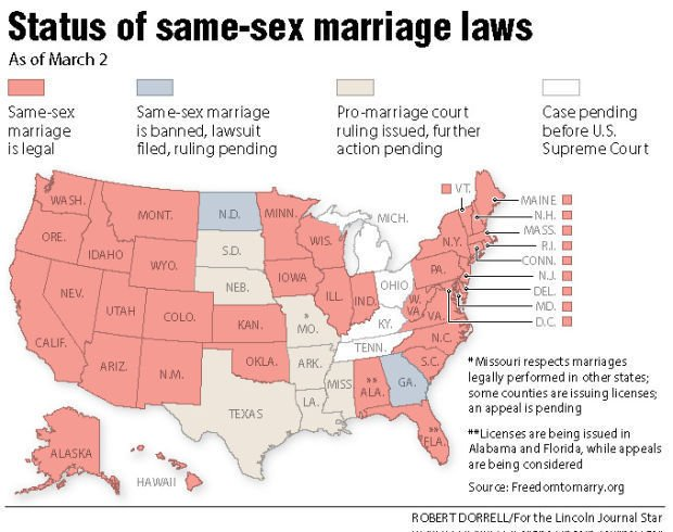 Same- marriage rulings: a timeline | Local | journalstar.com on sovereignty map, food issues map, metaphysical map, lawyers map, numerology map, stages of life map, birth control map, new moon map, middle class map, doctrine map, modernism map, love wins map, life calling map, 9gag map, family interaction map, heredity map, inbreeding map, addiction map, long trip map,