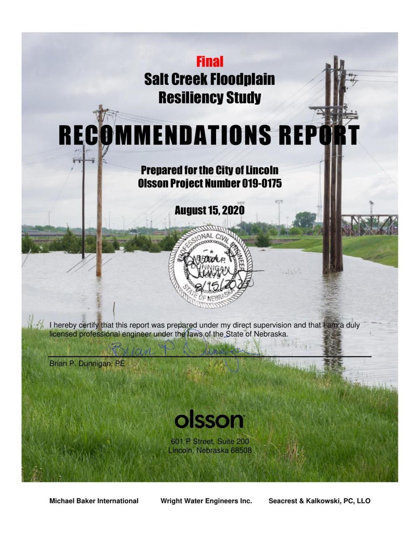 Salt Creek Floodplain Resiliency Study
