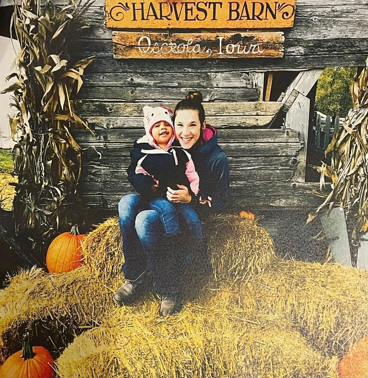 Bailey Boswell and daughter