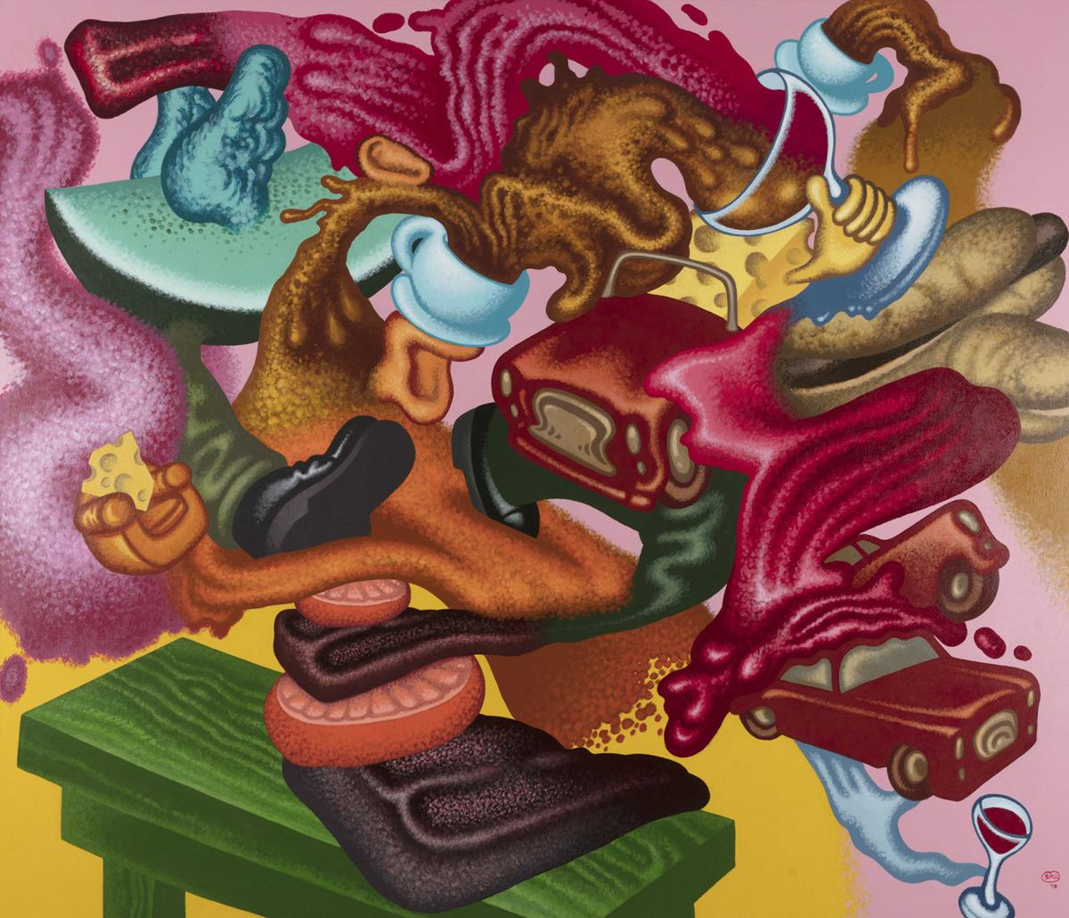 Abstract Expressionist Still Life, Peter Saul