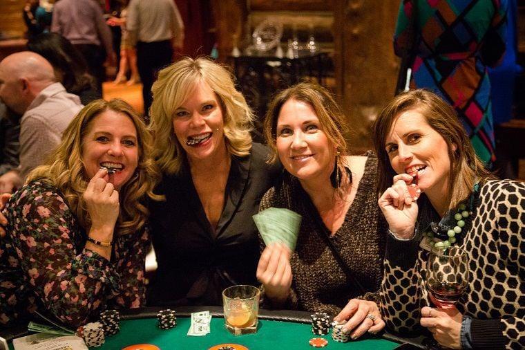 Group at blackjack table