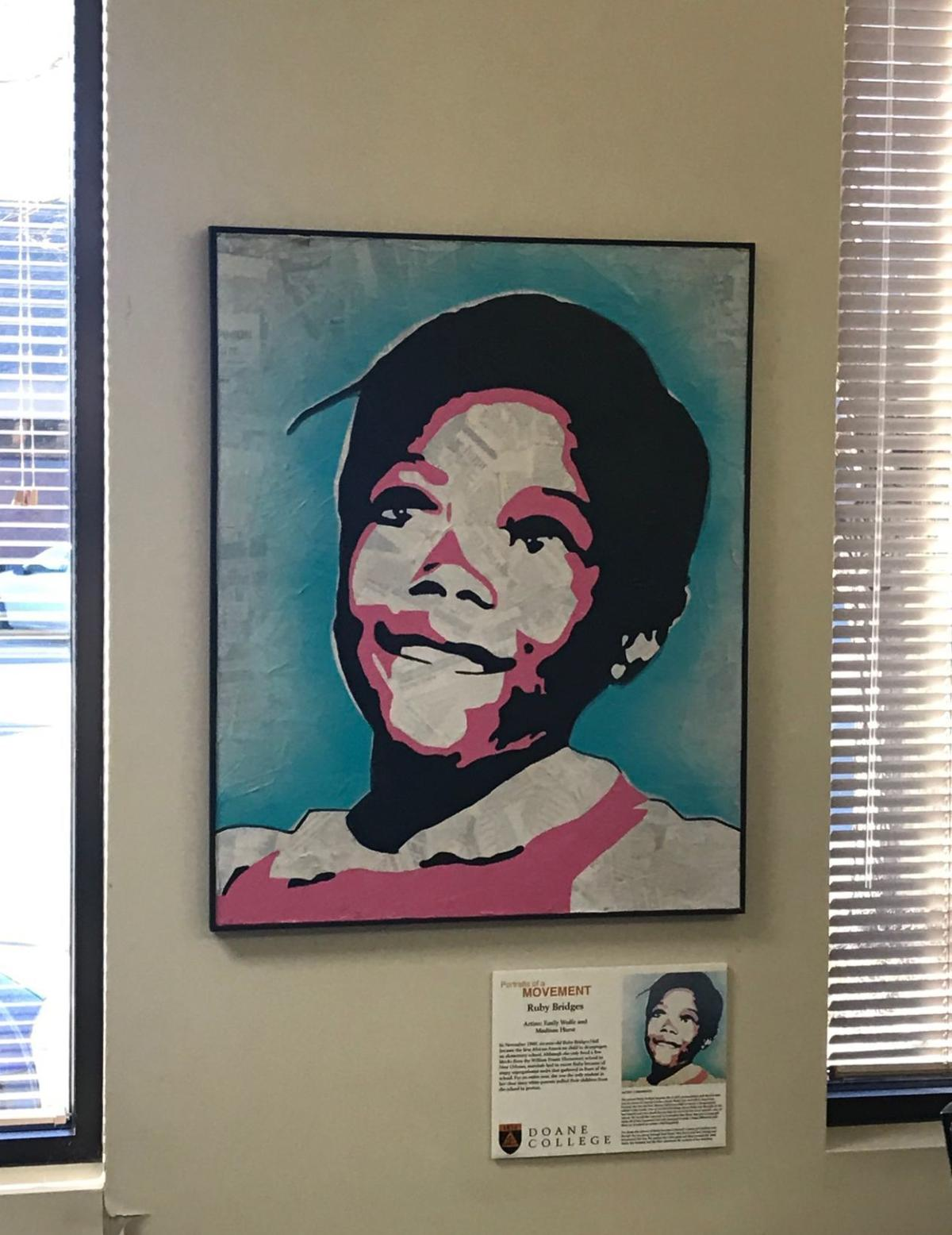 Ruby Bridges art at Doane-Lincoln