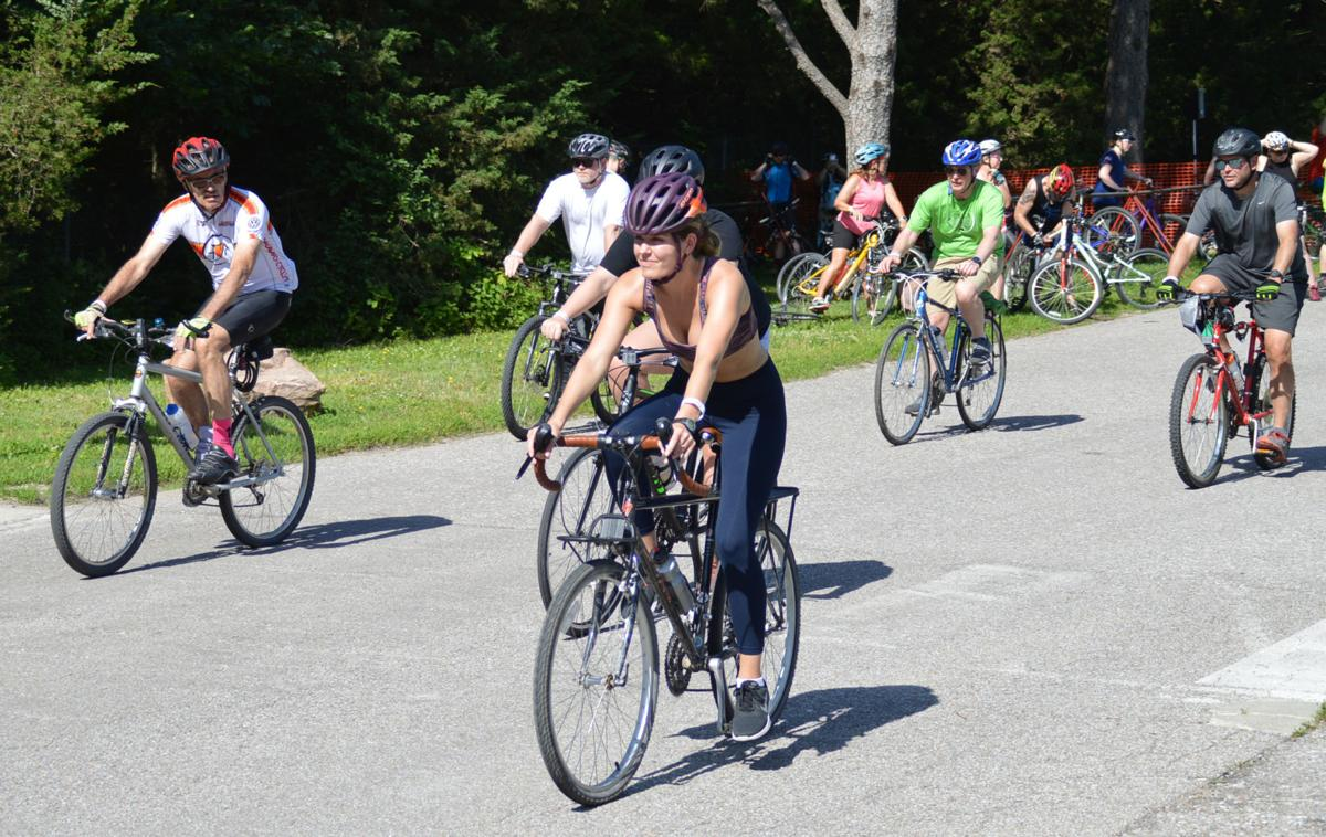 Cyclers begin the 17-mile ride