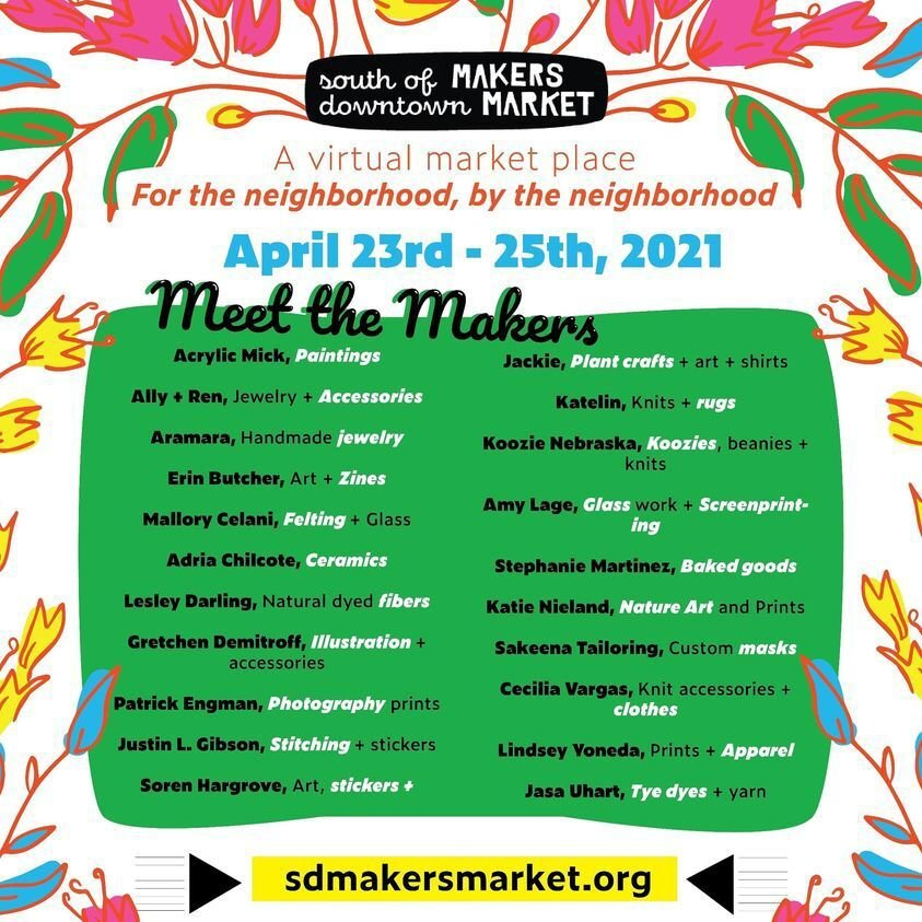 South of Downtown Spring Maker's virtual Market