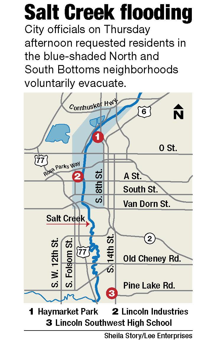 Map: Salt Creek through Lincoln