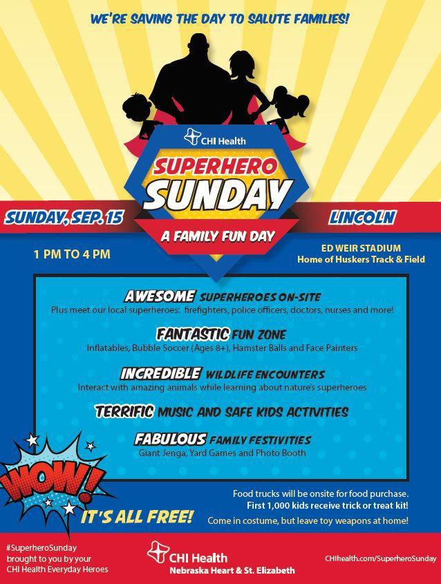 CHI Health Superhero Sunday