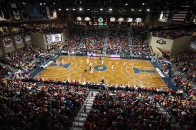 buy online f4b30 188fc Iowa State takes on Colorado during a game at the Sanford Pentagon in Sioux  Falls, South Dakota. Nebraska will play Oklahoma State there Dec. 16.