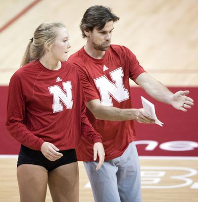 Nebraska volleyball practice, 4/6