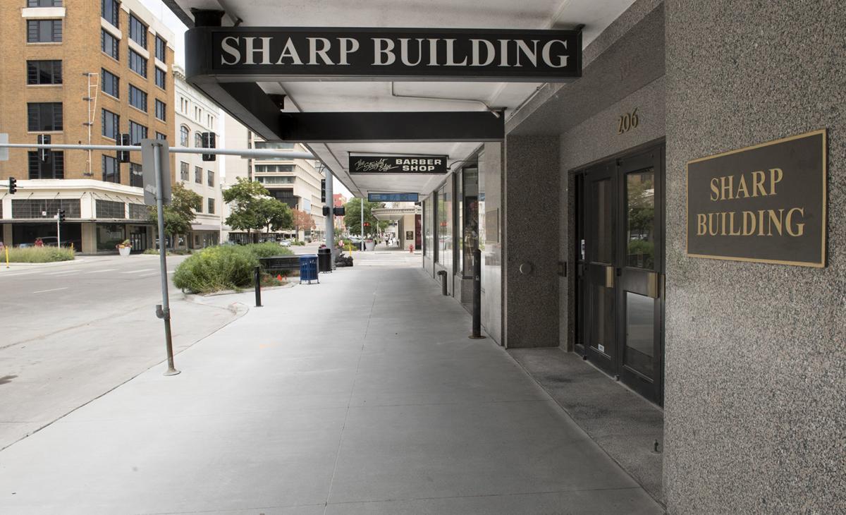 Sharp Building sidewalk