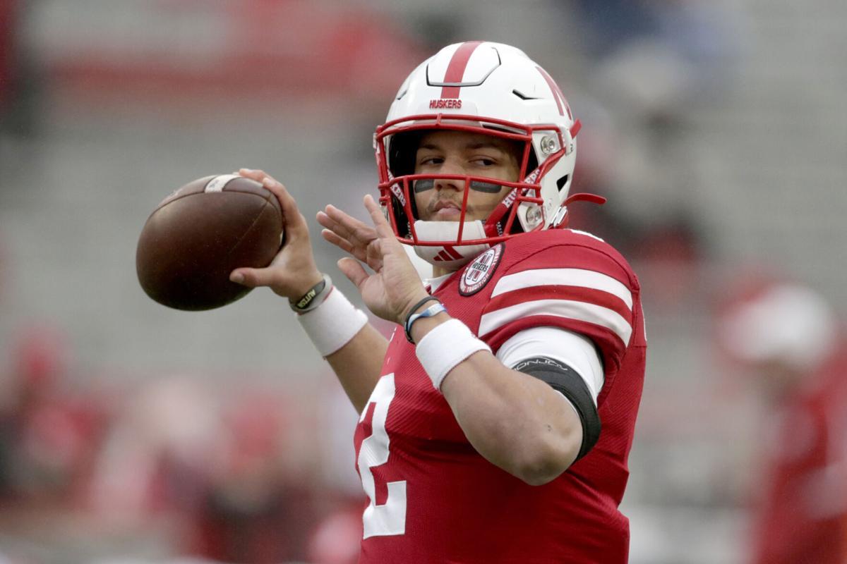 Nebraska quarterback Adrian Martinez