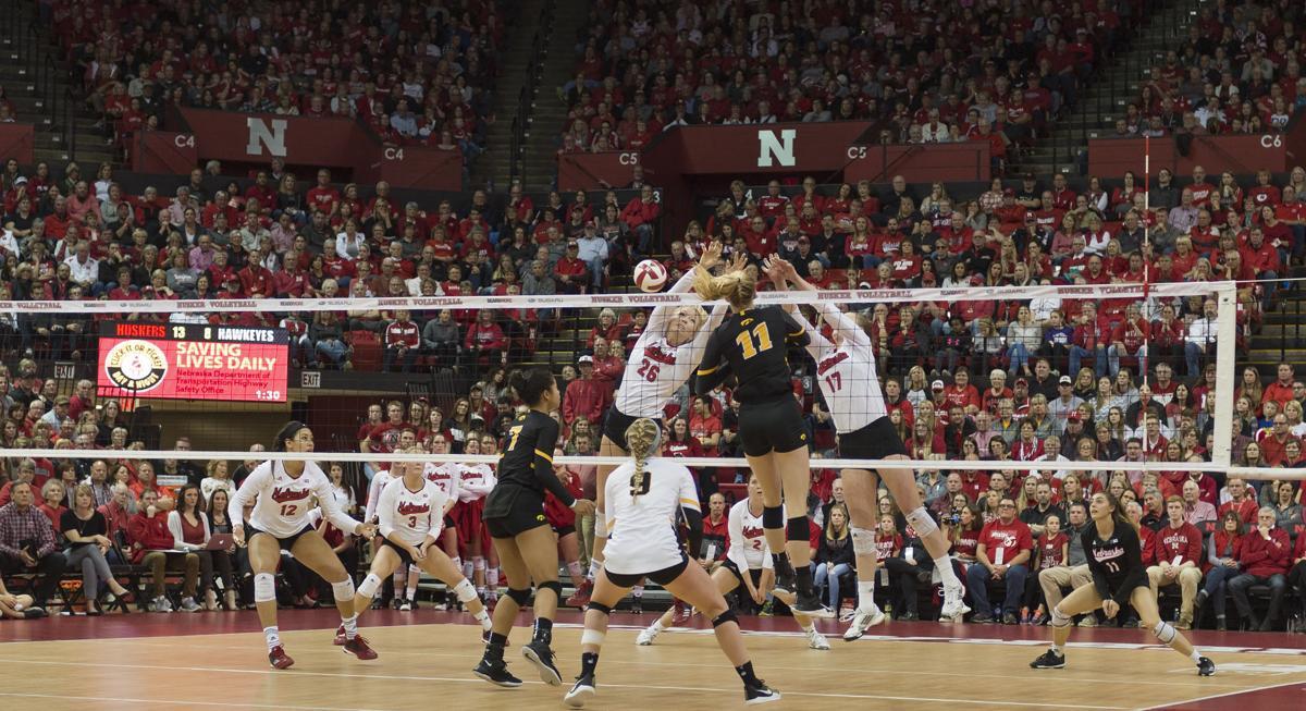 Iowa vs. Nebraska volleyball, 11/25/17