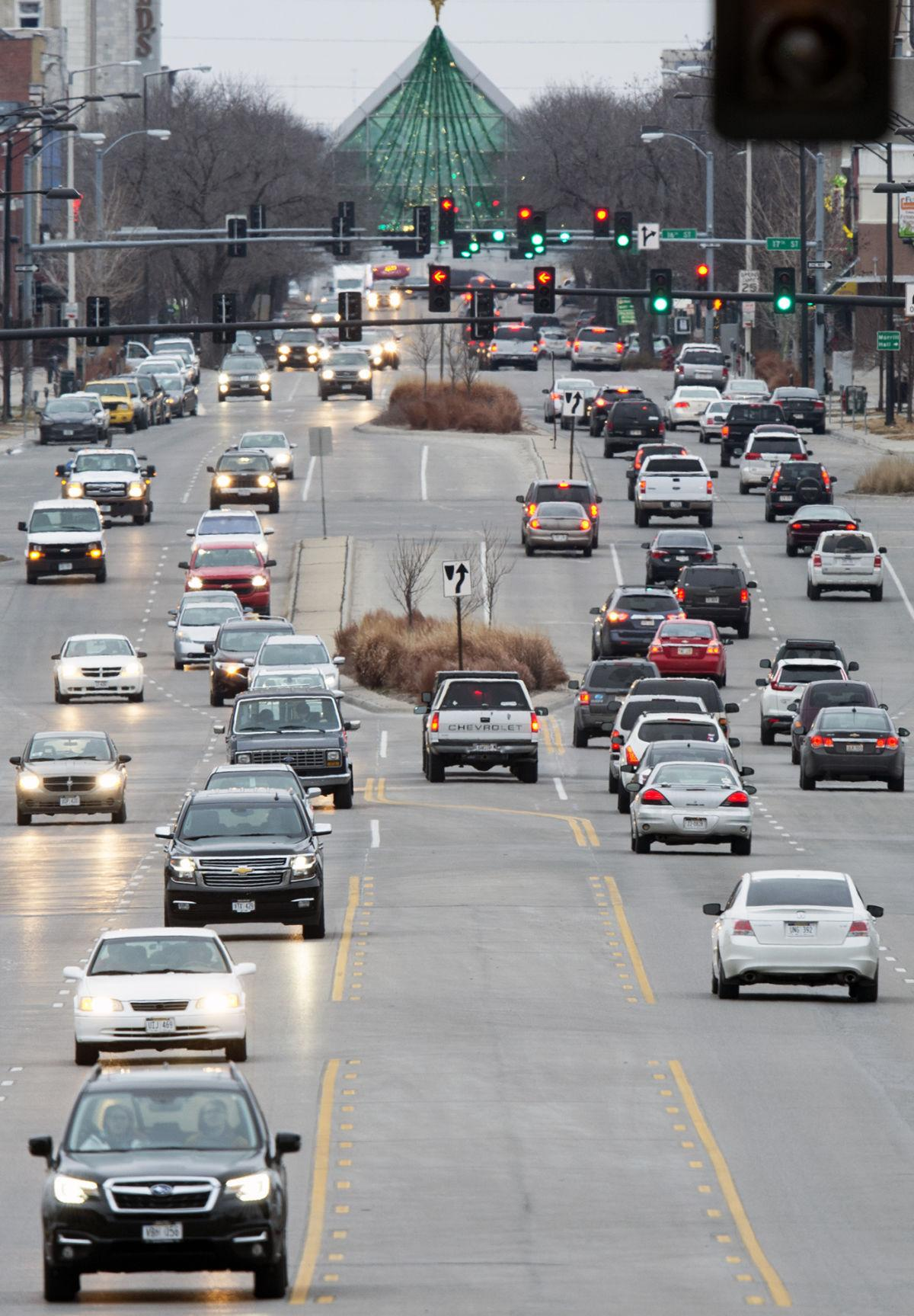 Traffic lights on O Street