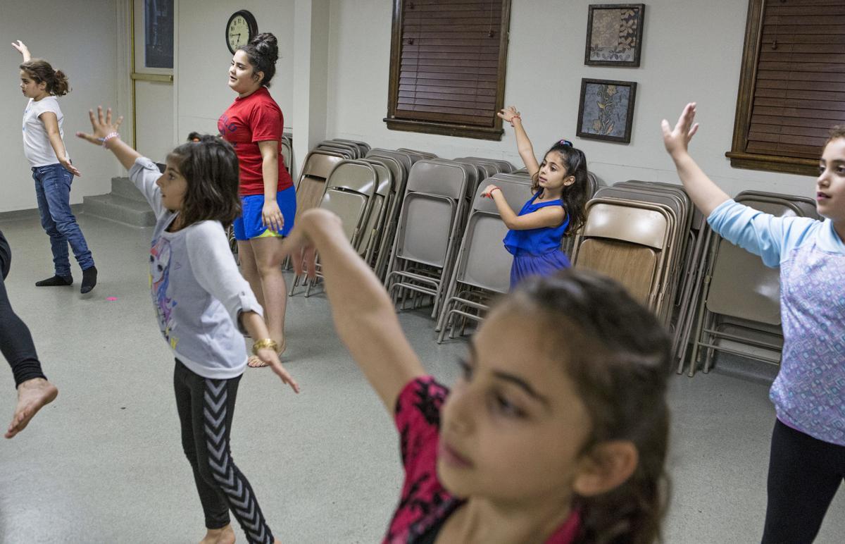 Yazidi dance class
