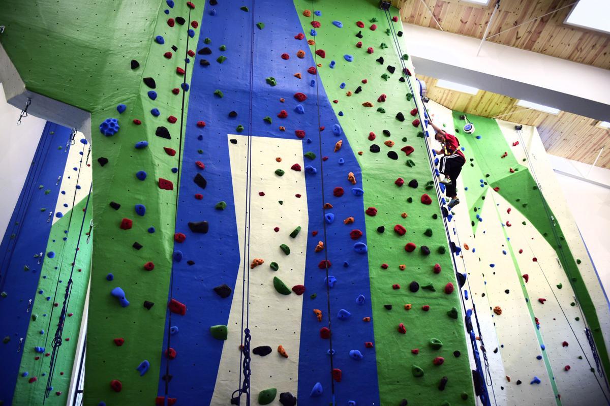 Mahoney climbing wall, 11/02