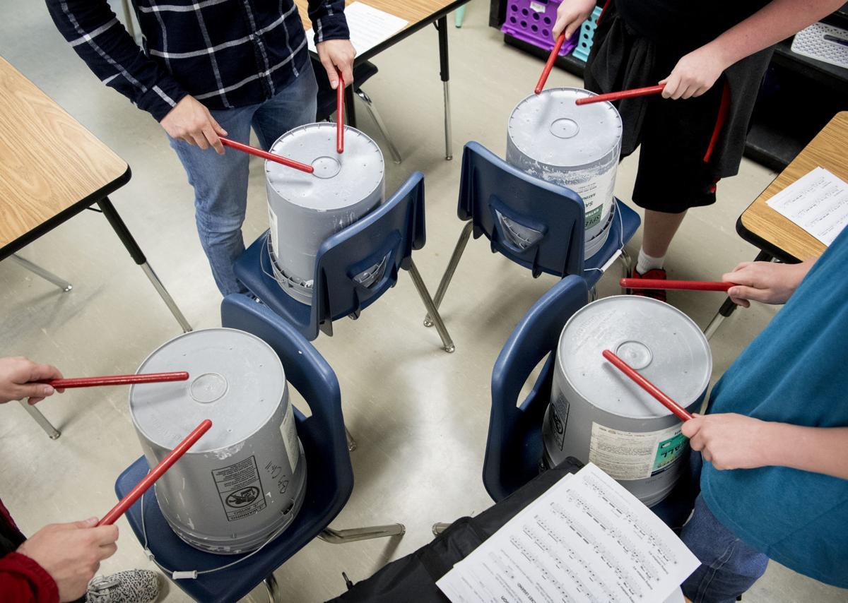 Bucket Drumming Club at Dawes Middle School, 5.1
