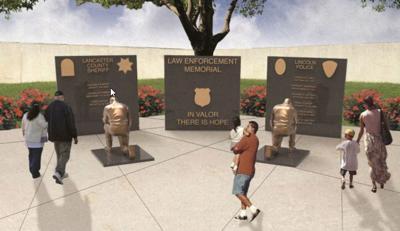Law Enforcement Memorial Rendering