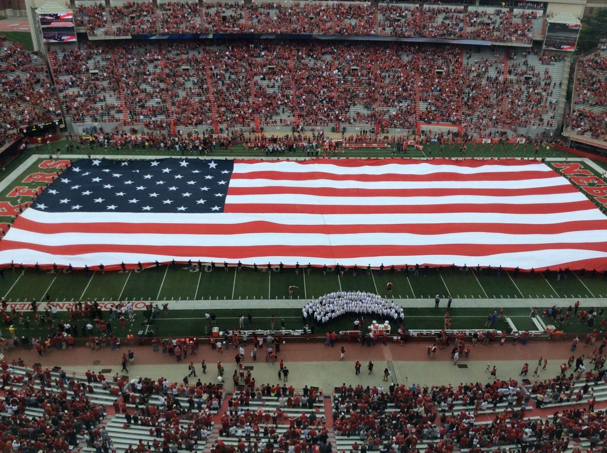 Spring game American flag